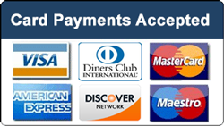Sadlers Taxis Credit Cards Now Accepted